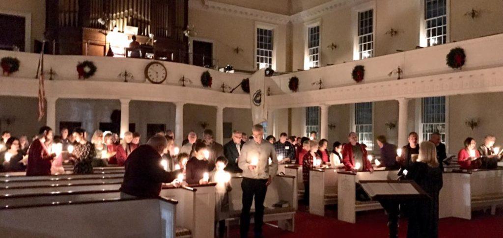 photo of candlelight worship